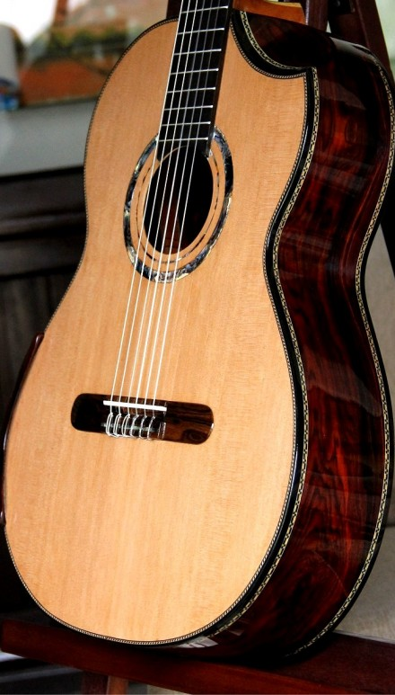 Highly Figured Cocobolo B&S, Cedar top Concert Classical Guitar