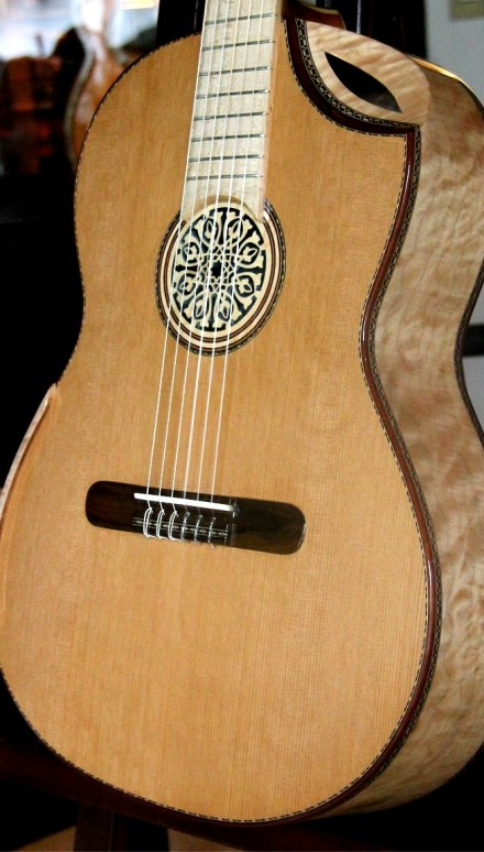 "Maple B&S, Cedar Top ""Letizia"" Concert Classical Guitar"