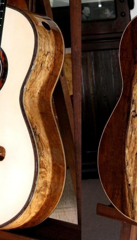 Spalted Tamarind B&S, Spruce Top Masterpiece Concert Classical Guitar