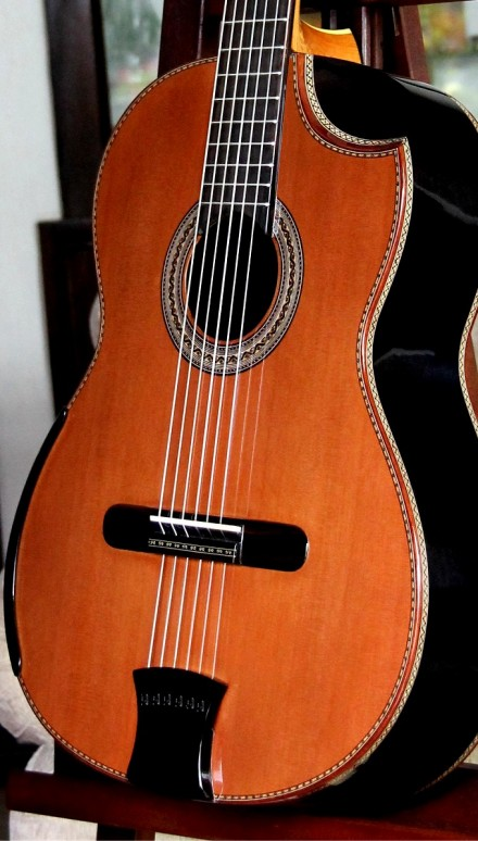 African Blackwood B&S Redwood Top Concert Classical Guitar