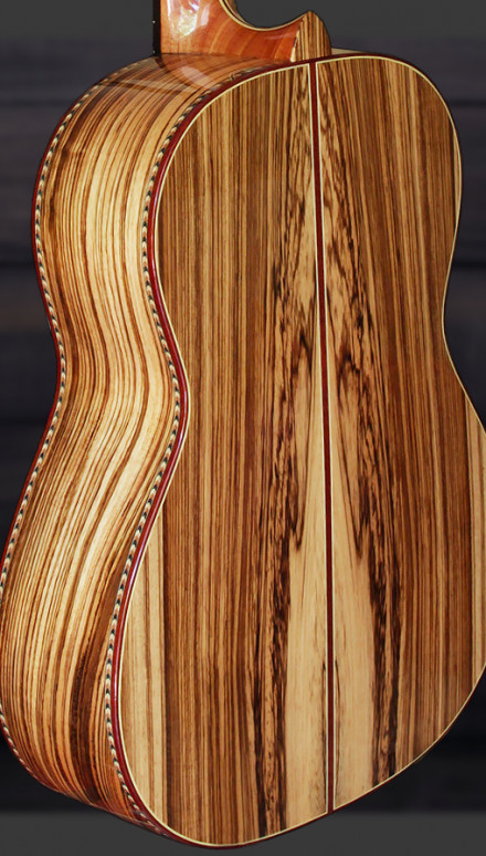 New Zebrawood B&S Alpine Spruce top Masterpiece Concert Classical Guitar