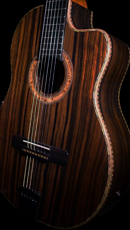 Ziricote B&S, Macassar Ebony Top Concert Classical Guitar