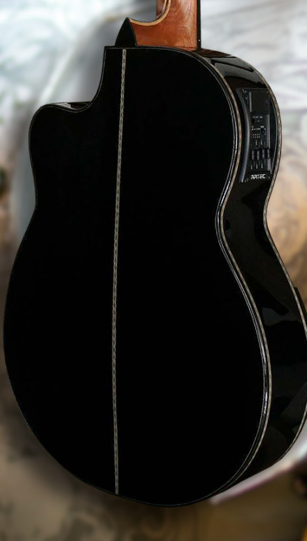 Bellucci Zorro Gabon Ebony Back & Sides, Spruce Top Model Concert Classical Guitar