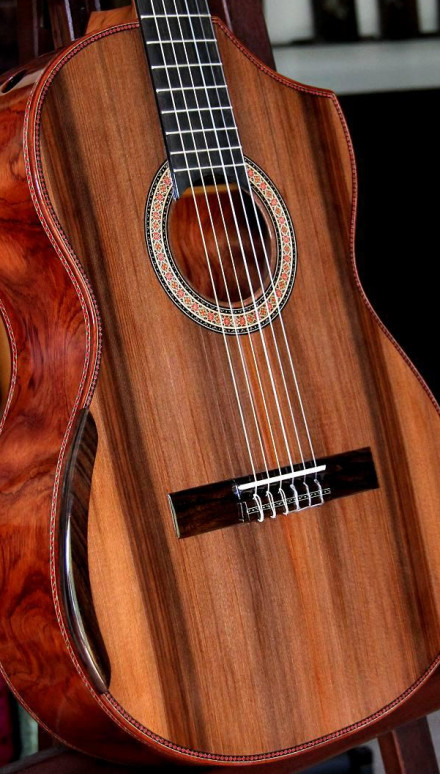 African Bubinga B&S, Sinker Redwood Top, Redhair Concert Classical Guitar