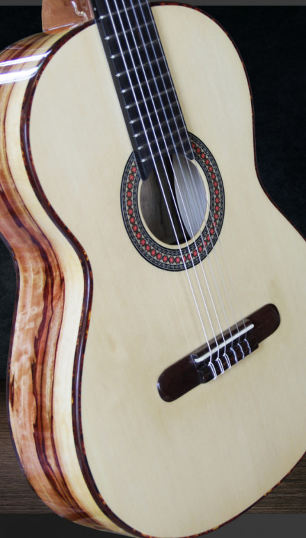 Custom Tamarind B&S, Port Orford Cedar Top Concert Classical Guitar