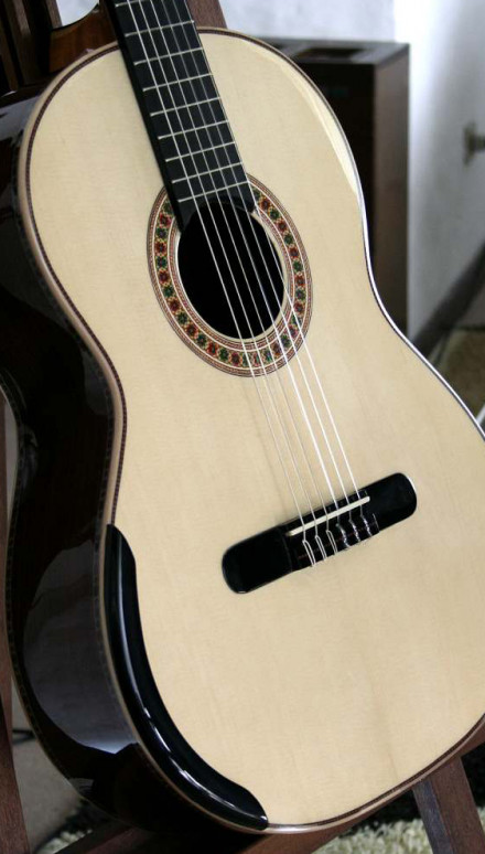 Indian rosewood Back and Sides, Italian Spruce Top, Doubletop Concert Classical Guitar