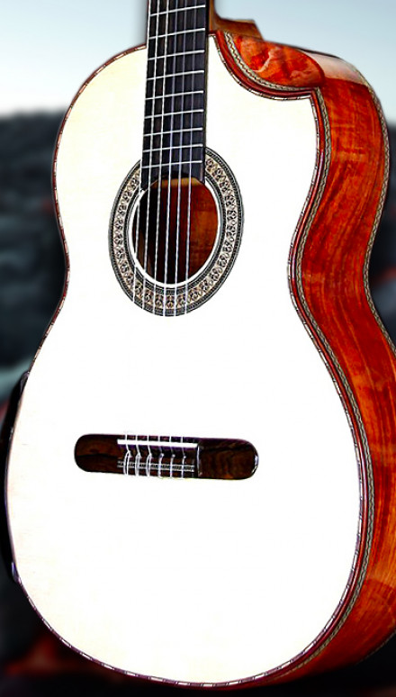 Koa B&S Italian Spruce top beauty Concert Classical Guitar