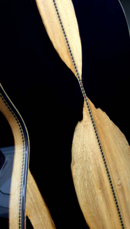Highly Figured Macassar Ebony B&S, The Orca Concert Classical Guitar