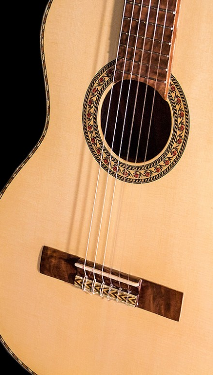 Monkeypod B&S Spruce Top  Concert Classical Guitar
