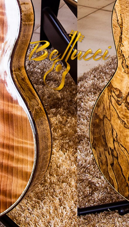 Highly Figured Spalted Mango B&S, Curly Sinker Redwood Top, The Anaconda Concert Classical Guitar