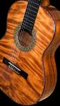 Hawaiian Koa B&S, Curly Redwood Top Concert Classical Guitar