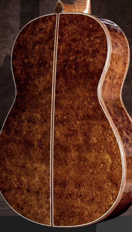 Walnut Burl B&S, Spalted Sinker Redwood Top Concert Classical Guitar
