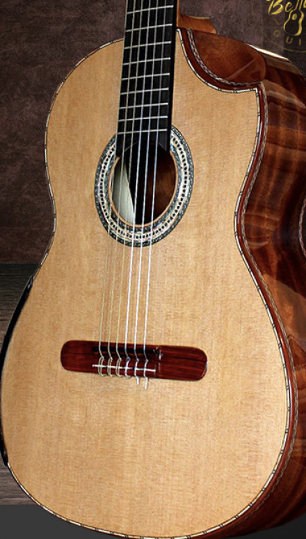 Bubinga B&S, Cedar Top Concert Classical Guitar
