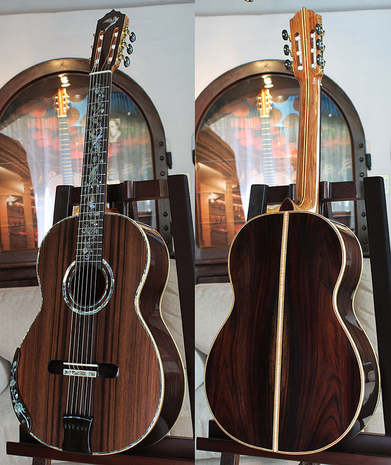 Brazilian Rosewood B&S Sinker Redwood Top Concert Classical Guitar