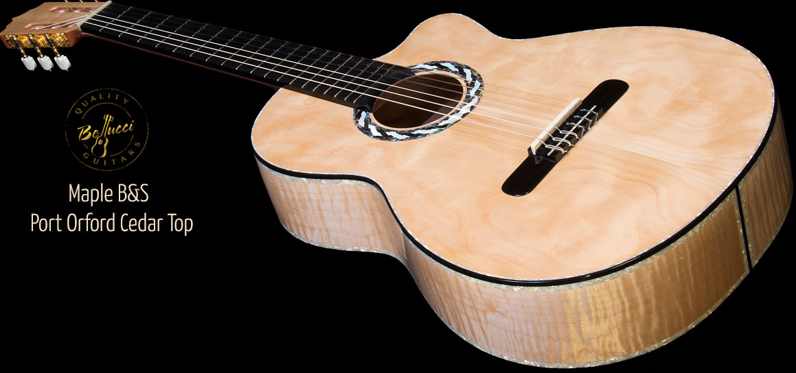 Maple B&S, Port Orford top Concert Classical Guitar