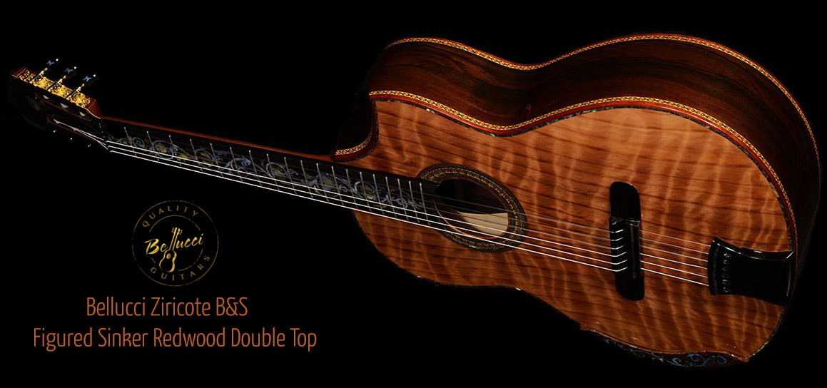 Ziricote B&S, Curly Sinker Redwood top Concert Classical Guitar