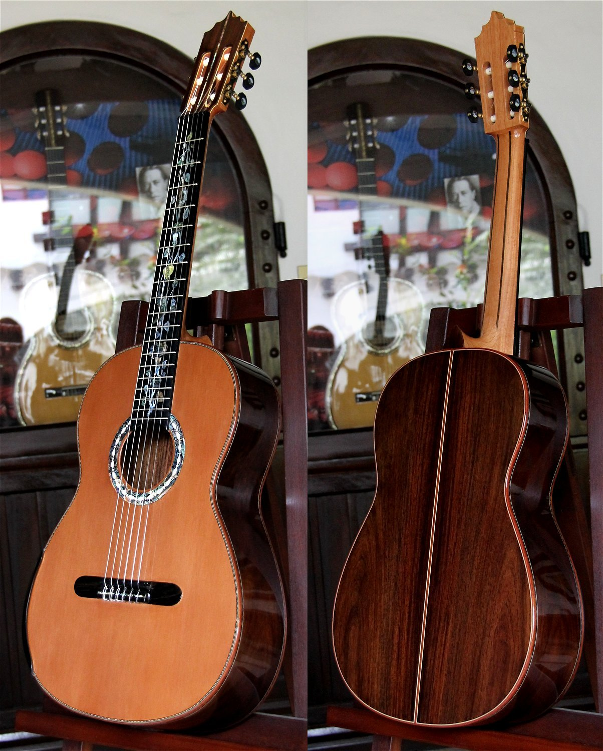 Brazilian Rosewood B&S Cedar Top Concert Classical Guitar