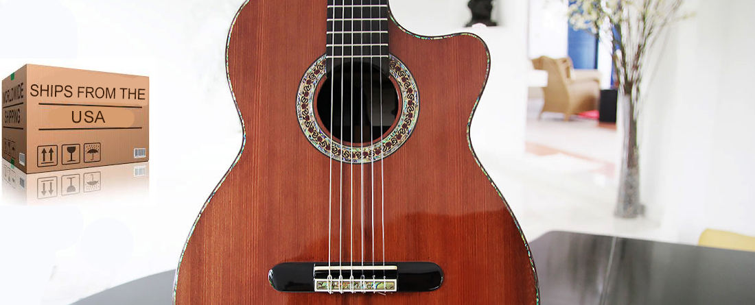 Brazilian Rosewood B&S, Sinker Redwood Top.  Collectors Edition Concert Classical Guitar