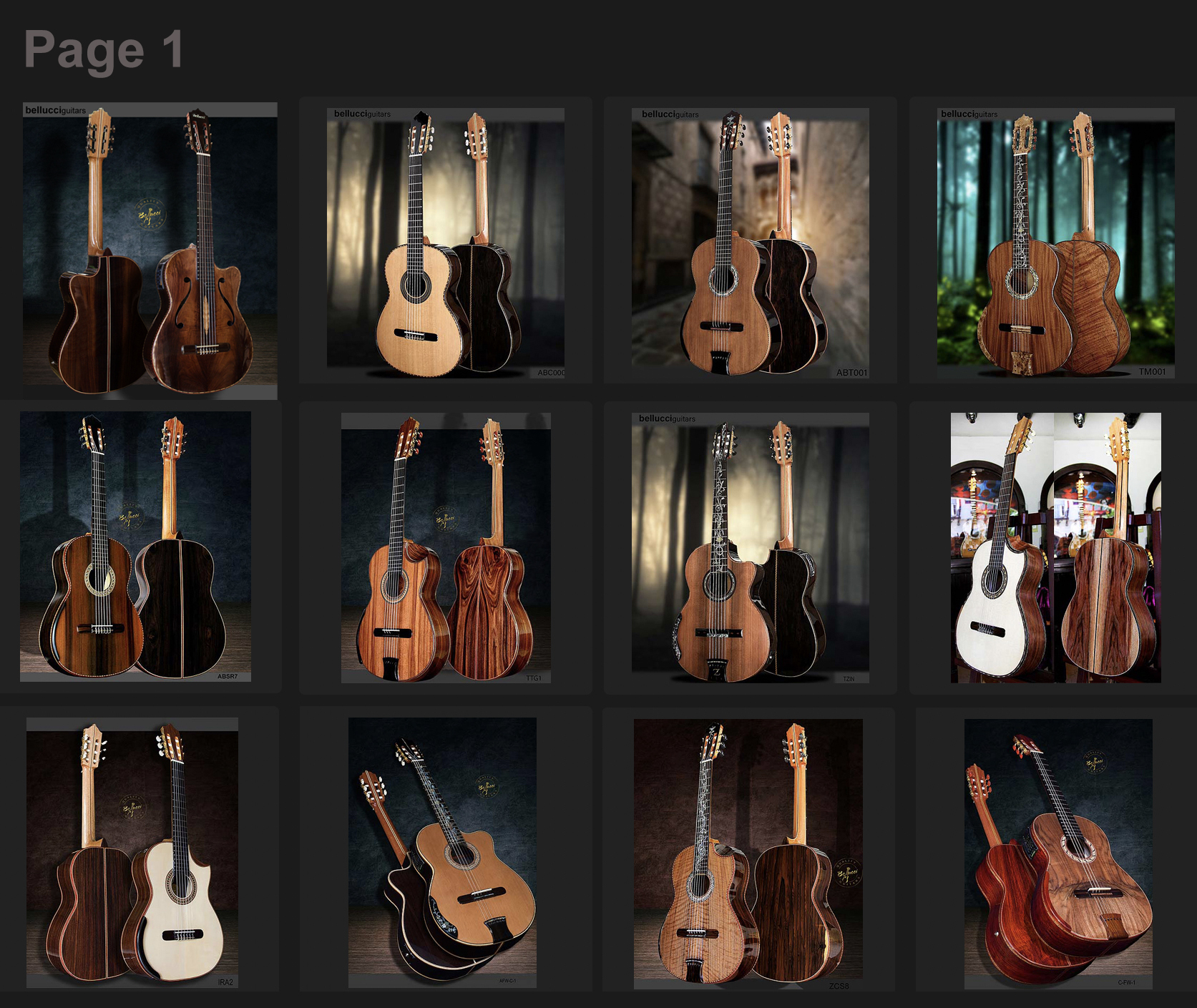 Amazing Bellucci Guitars Collection