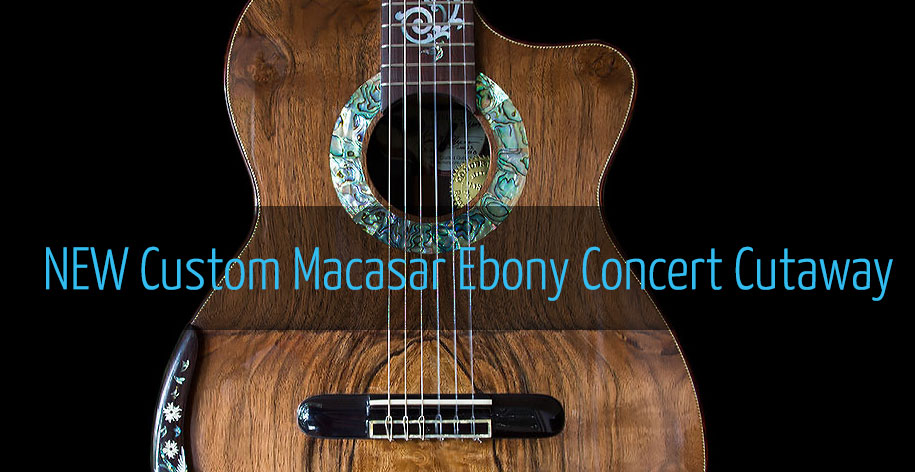 New Custom Macassar Ebony B&S Concert Cutaway