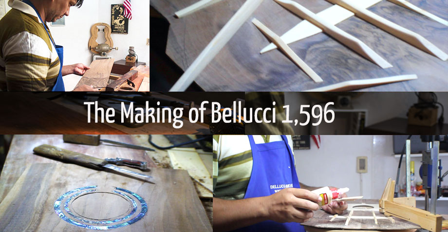 The Making of Bellucci Guitar 1,596: Day 12