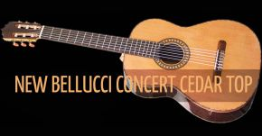 NEW Bellucci Cedar Top Concert Guitar Stunning !
