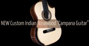New Custom Indian Rosewood B&S Italian Spruce Top Lattice Doubletop Campana Guitar