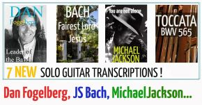 7 NEW Guitar Transcriptions Bach McLean Fogelberg Bach
